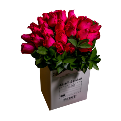Signature Post Box - Red Roses